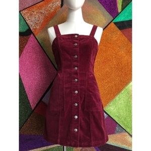 H&M corduroy jumper dress size large